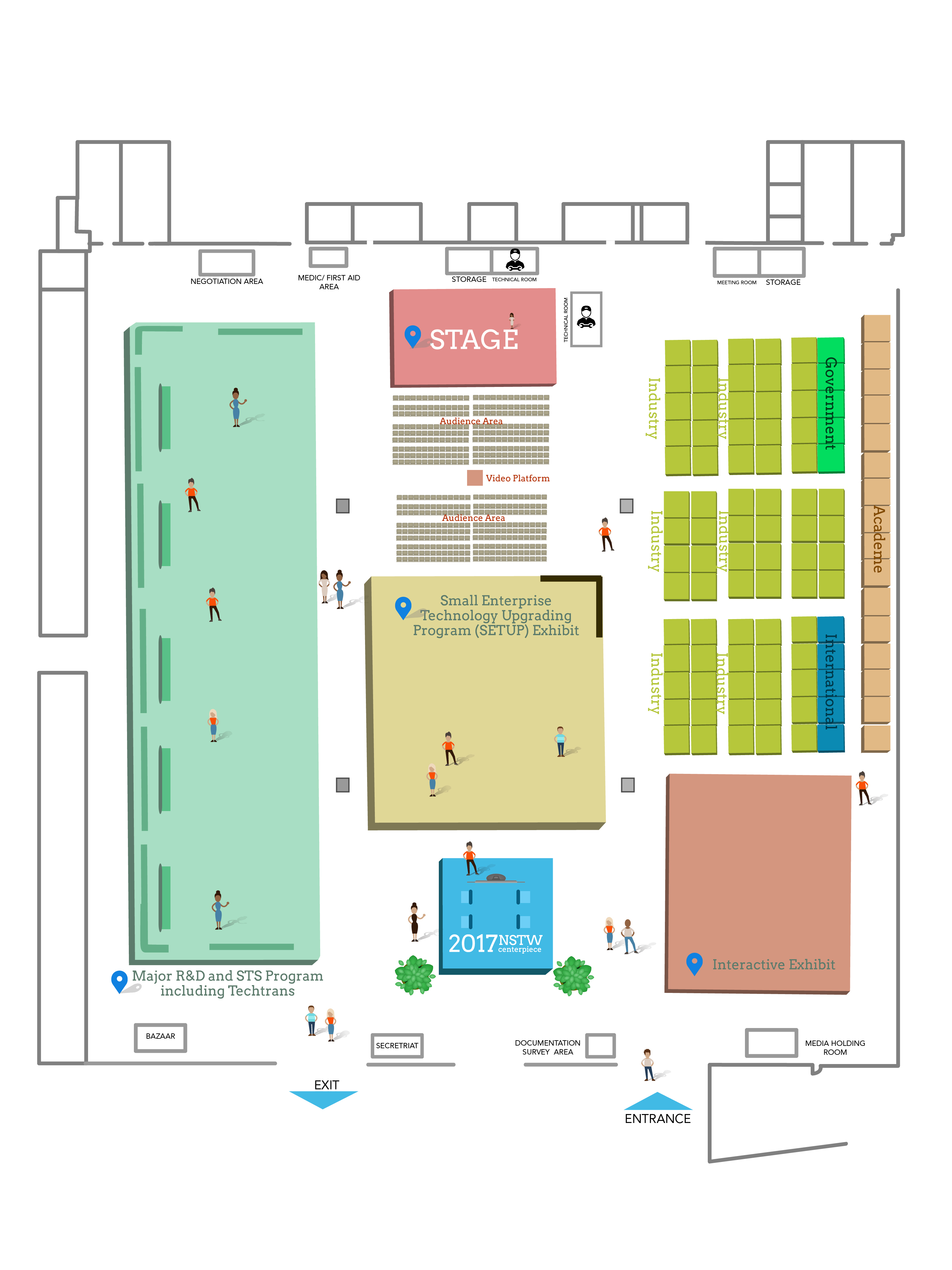 Nstw 2017 nstw forums pttc exhibition hall floor plan gumiabroncs Choice Image